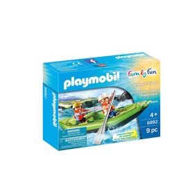 Playmobil - Enfants avec radeau pneumatique