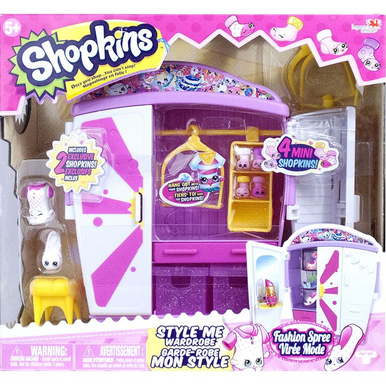 Shopkins Ensemble de Jeu le garde-robe.