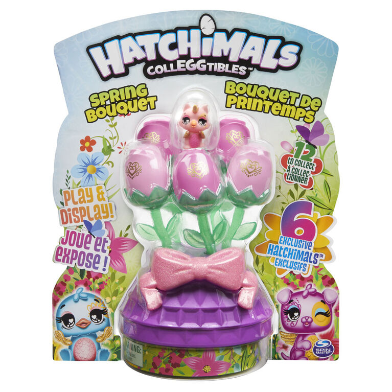 Hatchimals CollEGGtibles, Spring Bouquet with 6 Exclusive CollEGGtibles (Style May Vary)