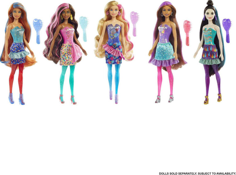 Barbie Color Reveal Doll, Party Series, Confetti Print, 7 Surprises - Styles May Vary