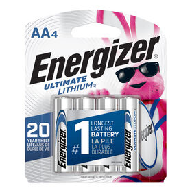 Energizer Ultimate Lithium AA4 batteries