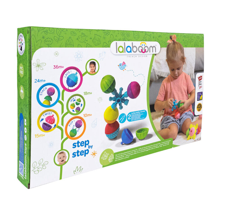 Lalaboom - 36 Pieces Rainbeads