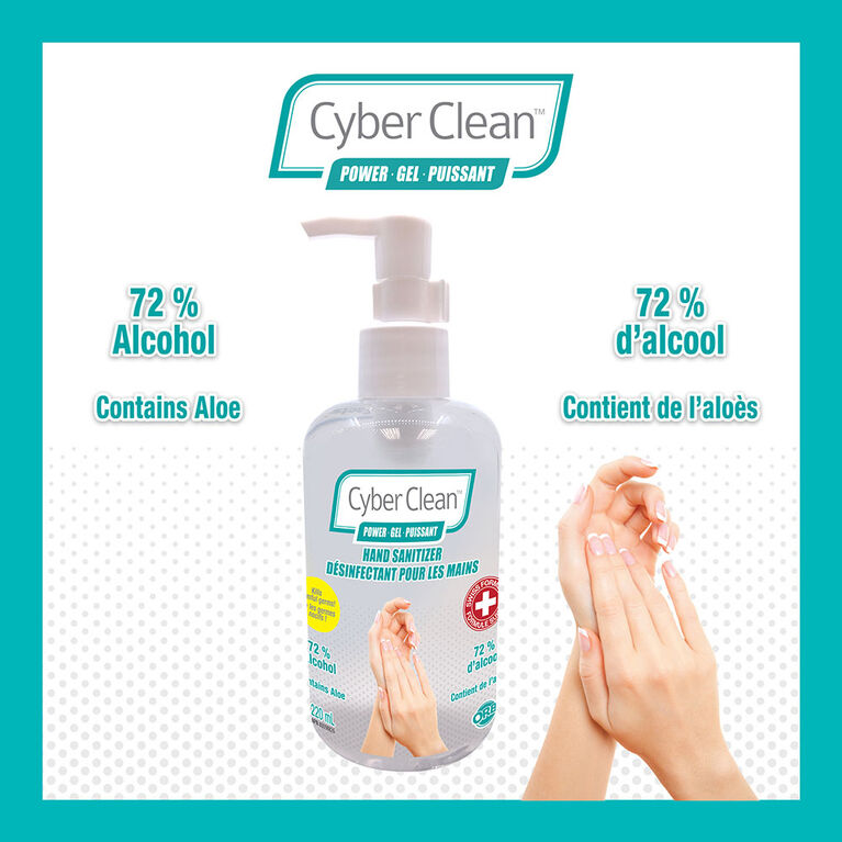 Cyber Clean Power Gel Sanitizer 220Ml - Édition anglaise