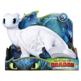 How To Train Your Dragon Lightfury, 14-inch Deluxe Plush Dragon - R Exclusive