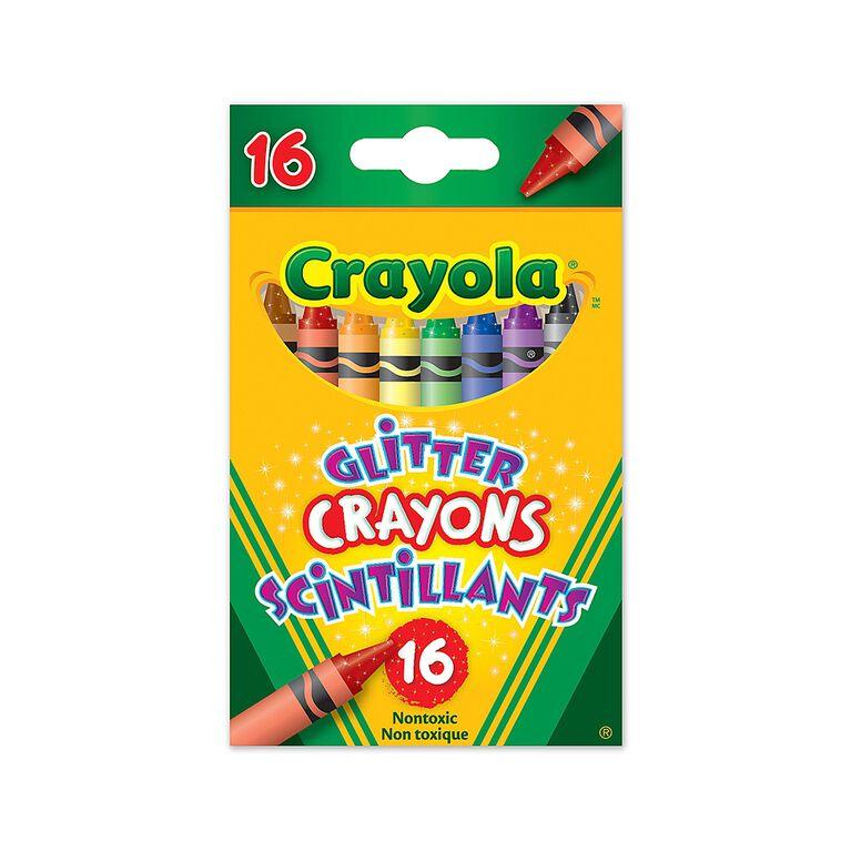 16 crayons de cire scintillants