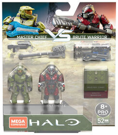 Mega Construx - Héros Halo Master - Chief et un guerrier Brute
