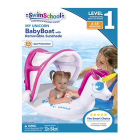 My Unicorn Baby Boat  with Removable SunShade