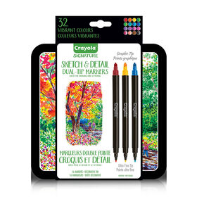 Crayola Signature Sketch & Detail Dual-Tip Markers