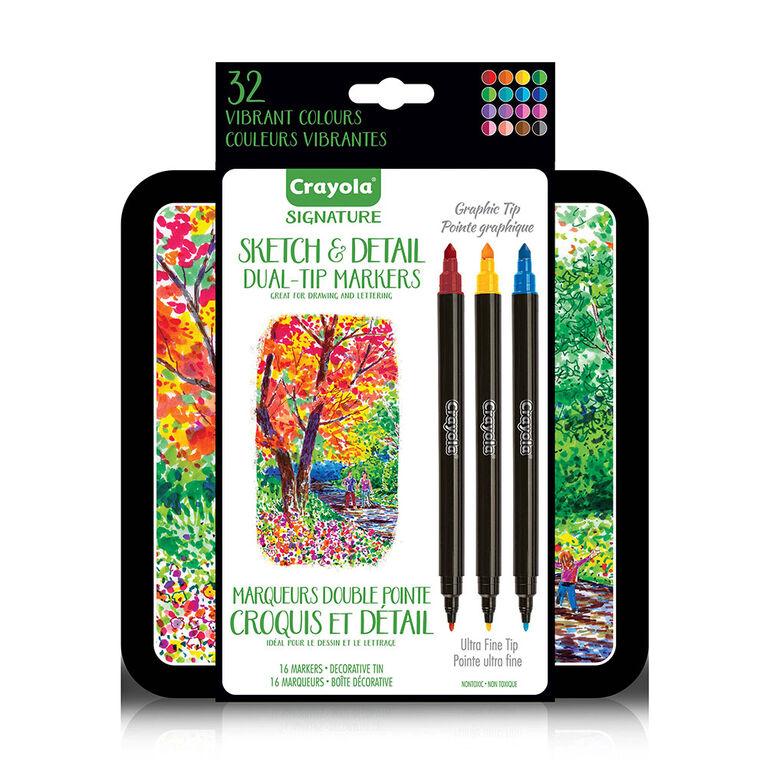 Marqueurs double pointe Croquis et Détail Signature de Crayola