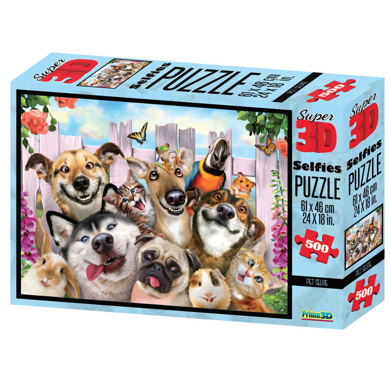 Howard Robinson Pet Selfie500 Piece Super 3D Puzzle