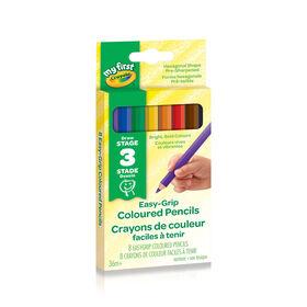 8 crayons de couleur à prise facile Crayola My First