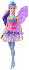 Barbie Dreamtopia Fairy Doll, 12-inch, Purple Hair, with Wings and Tiara