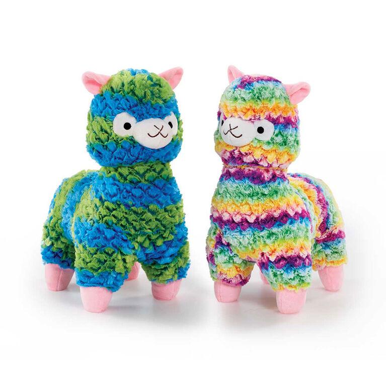 "Snuggle Buddies 14"" Fleecy Llama Rainbow"