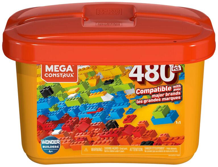 Mega Bloks Bulk Tub - 480 building bricks
