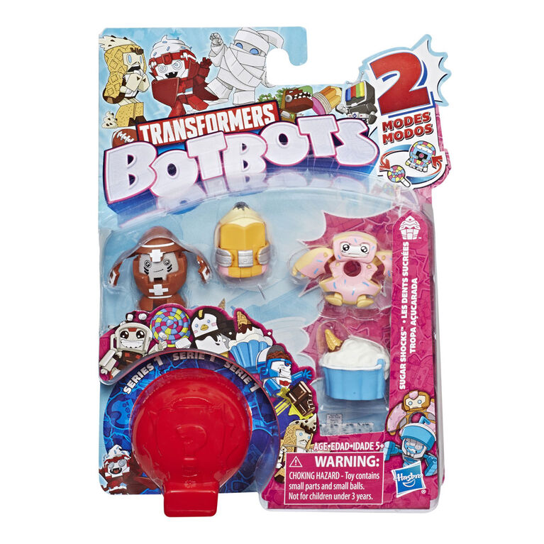 Transformers BotBots Toys Series 1 Sugar Shocks 5-Pack - Mystery 2-In-1 Collectible Figures