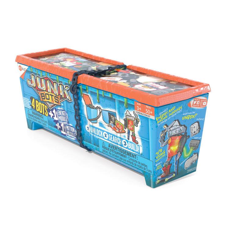 Hexbug Junkbots - benne à déchets, grande - Les couleurs et les motifs peuvent varier