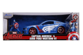 2006 Ford Mustang GT with Captain America Figure
