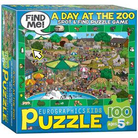 Une journée au zoo 100-Piece Casse-tête