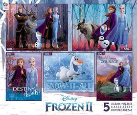 Ceaco Disney Classiques 5 in 1 Multi Pack Puzzles Frozen 2