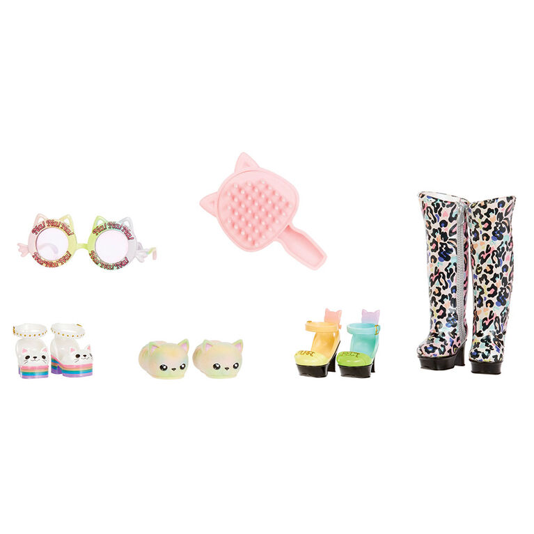 Na! Na! Na! Surprise Ultimate Surprise Rainbow Kitty with New Taller Doll and 100+ Mix & Match Looks