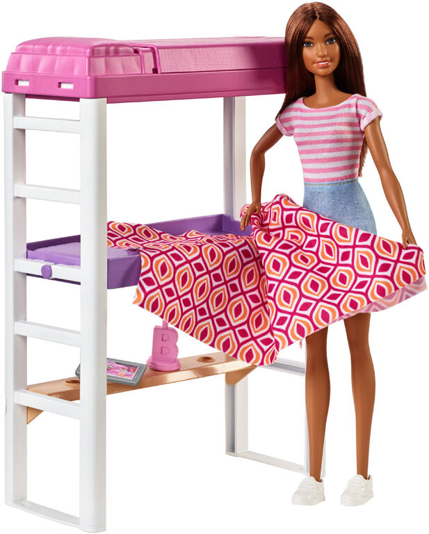 Barbie Doll & Loft Bed Set