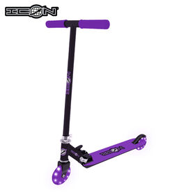 Icon Supreme 100Mm Light Up Wheel Scooter - Purple