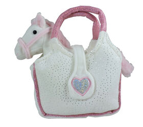 Gipsy - Lovely Bags (Poney blanc et rose dans un sac à main blanc).