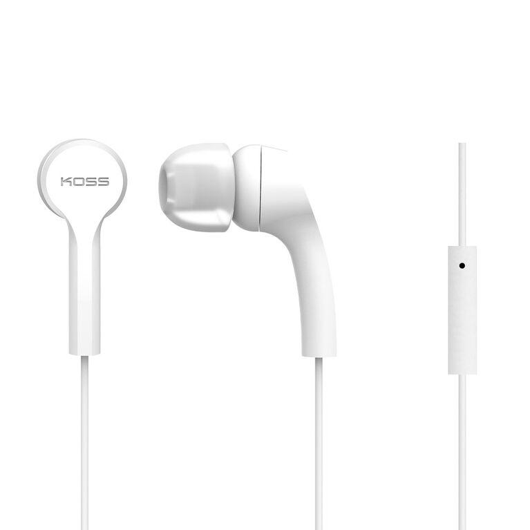 Écouteurs Koss KEB9 avec micro Blanc
