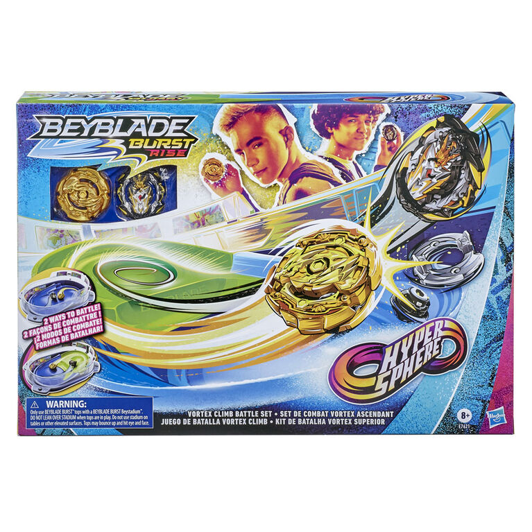 Beyblade Burst Rise Hypersphere Vortex Climb Battle Set - Complete with Beystadium, 2 Battling Top Toys and 2 Launchers