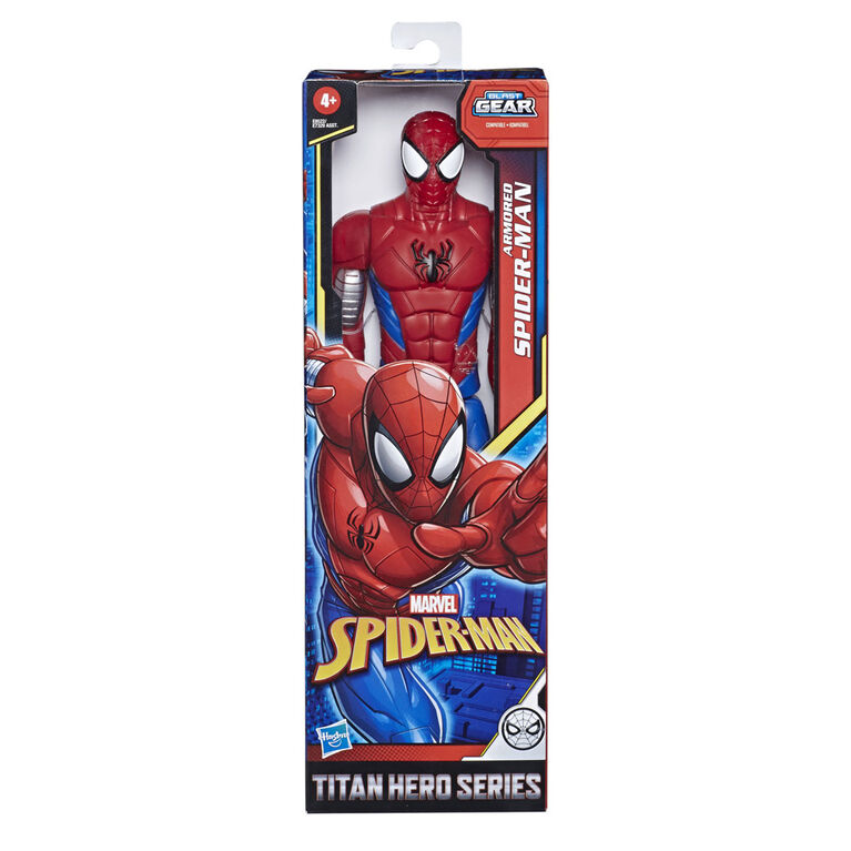 Marvel Spider-Man : Titan Hero Series - Figurine de super-héros Armored Spider-Man