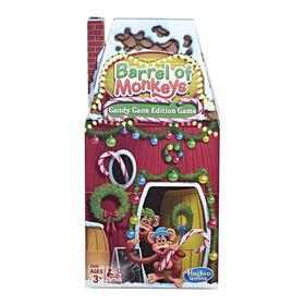 Hasbro Gaming Barrel of Monkeys: Candy Cane Holiday Edition