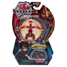 Bakugan Ultra Ball Pack, Pyrus Serpenteze, Créature transformable à collectionner de 7,5 cm