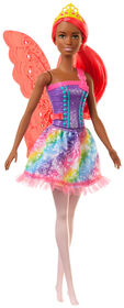 Barbie Dreamtopia Fairy Doll, 12-inch, Pink Hair, with Wings and Tiara