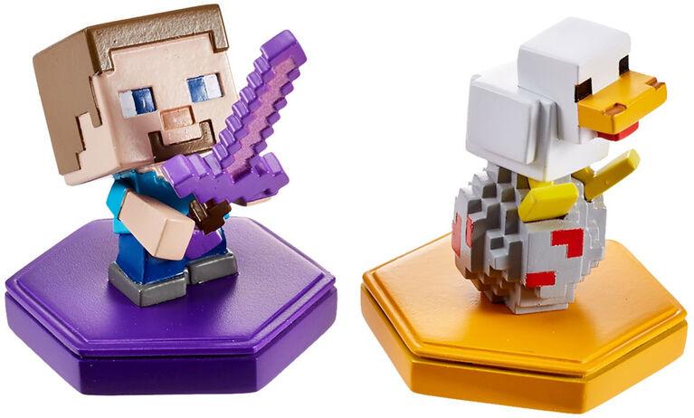 Minecraft - Earth - Boost - Mini-figurines - Coffret de 2