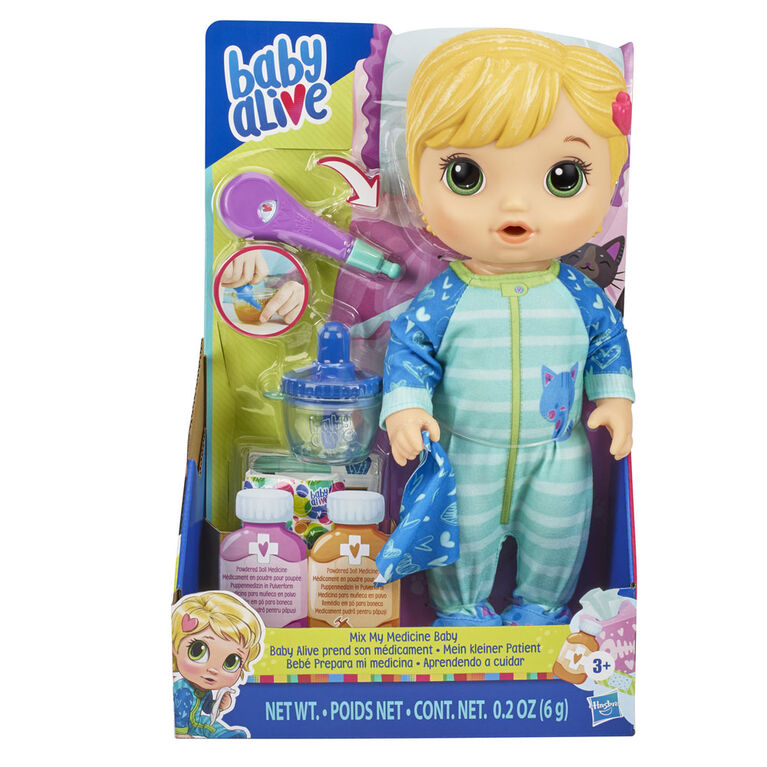 Baby Alive Mix My Medicine Baby Doll Blonde Hair