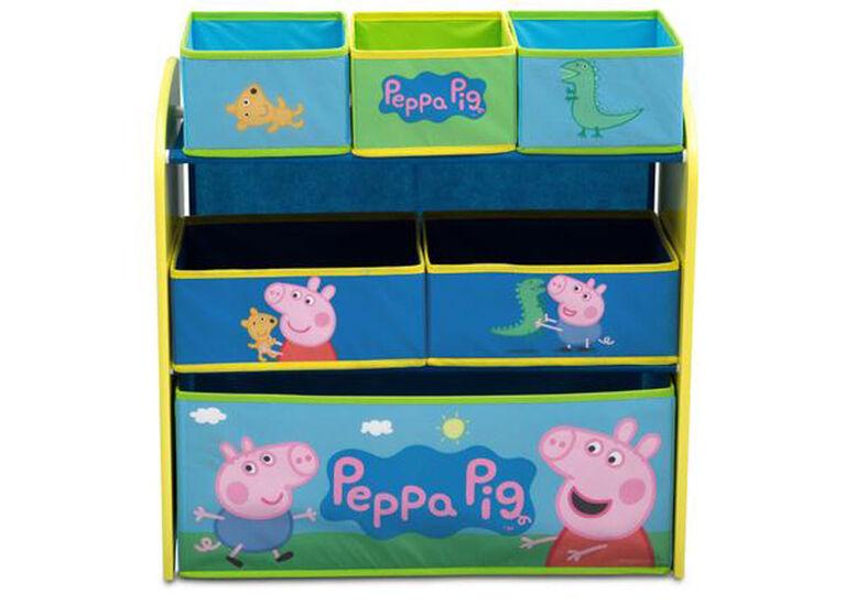Peppa Pig 6-Bin Toy Organizer