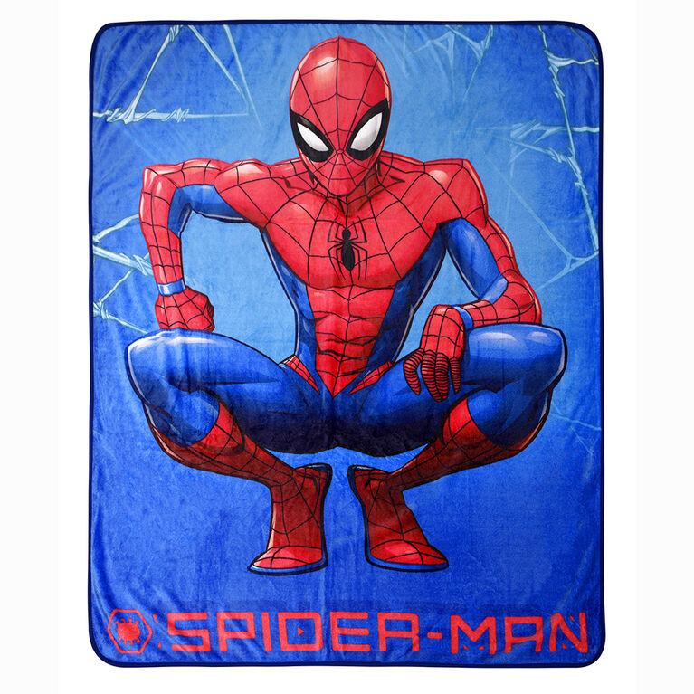 Marvel Spiderman Fleece Throw Blanket, 60 x 80 inches