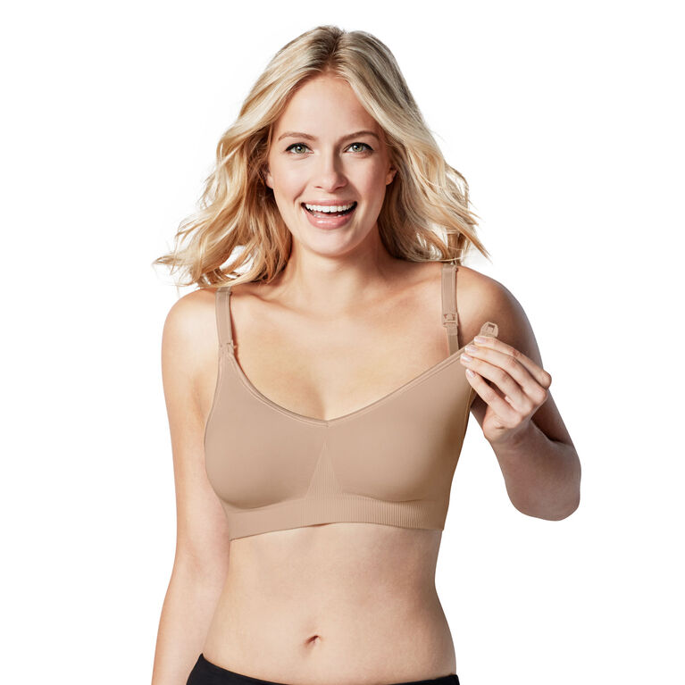 Body Silk Seamless Nursing Bra - Butterscotch, Extra Small