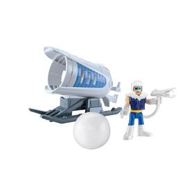 Fisher-Price Imaginext DC Super Friends Captain Cold and Ice Cannon Action Figure - English Edition