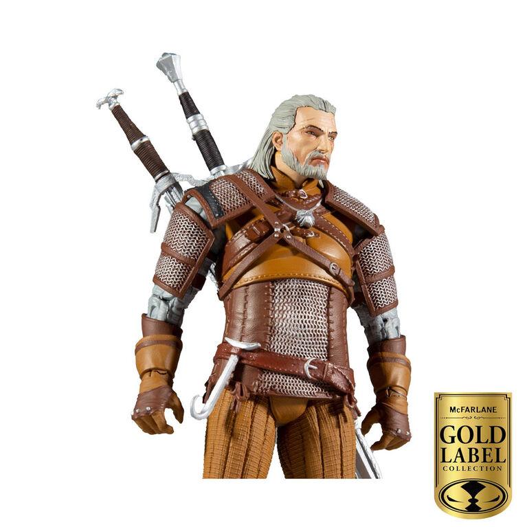 Série de collectionneurs d'étiquettes d'or McFarlane: figurine Witcher - Geralt - Notre exclusivité