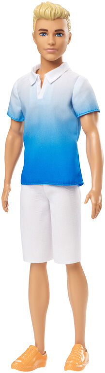 Ken Fashionistas Doll 129 Wearing Blue Ombre Shirt