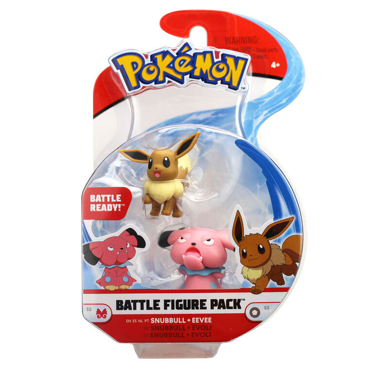"""Battle Figure Pack (2"""" Fig 2-Pack) - Eevee #1 and Snubbull"""