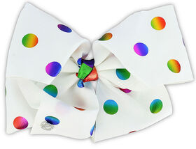 Jojo Siwa Bow - Polka Dotted Rainbows