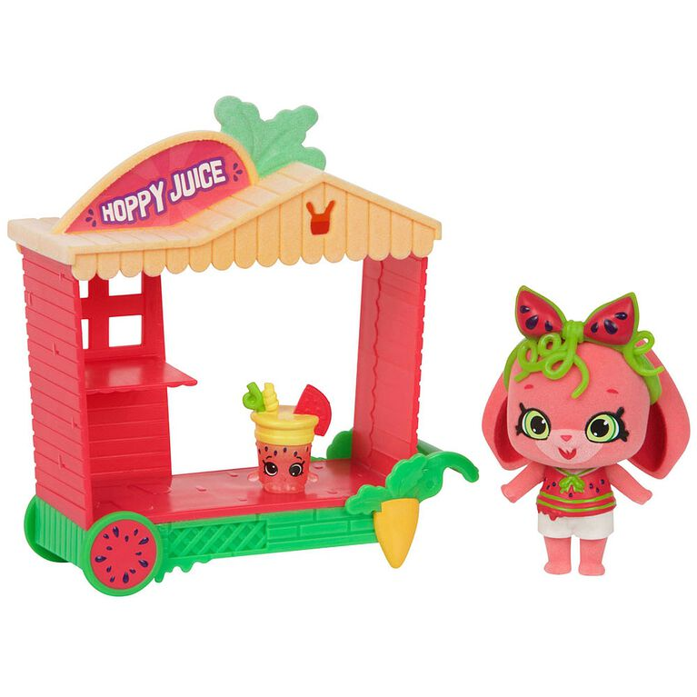 Shopkins Shoppets  Season 9 Wild Style Theme Pack - Melonie Hops + Hoppy Juice Cart
