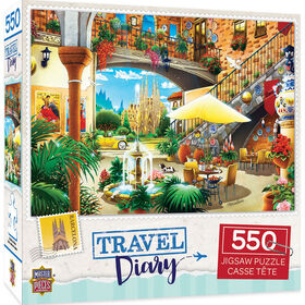 Travel Diary Barcelona- 550 Piece Jigsaw Puzzle