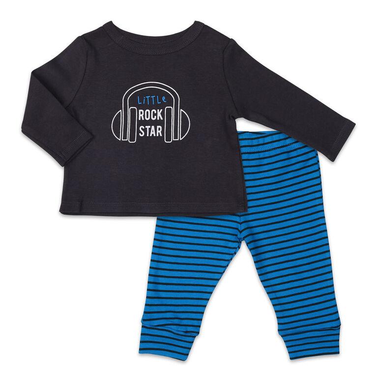 Ensemble Koala Baby Let's Play chemise et pantalon à manches longues, Little Rock Star - Jusquà - 3 Mois