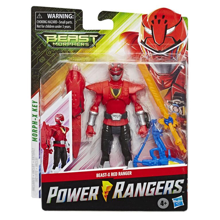 Power Rangers Beast Morphers - Figurine jouet de 15 cm Ranger rouge Beast-X de la série télé Power Rangers