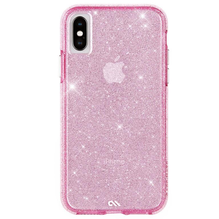 Étui rigide ajusté Sheer Crystal de Case-Mate pour iPhone X/Xs - Rose