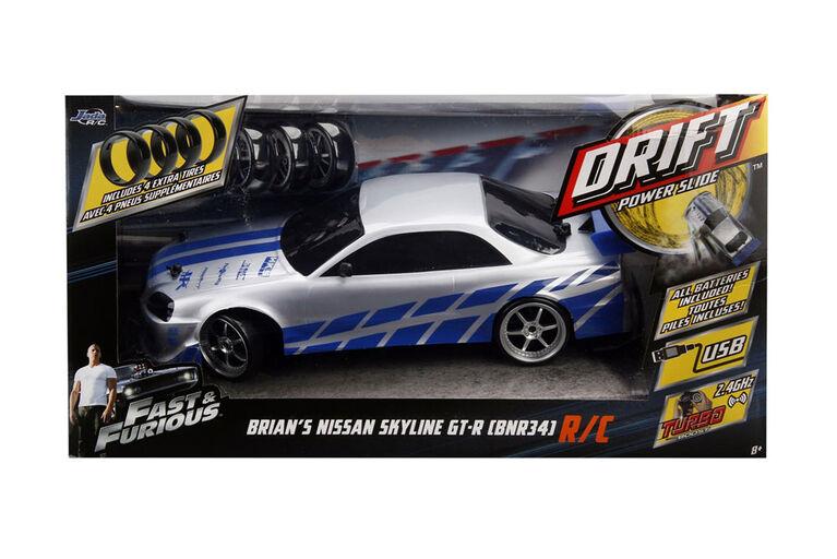 Fast & Furious 1:10 Drift Rc 2002 Nissan Skyline Gt-R (Bnr34)