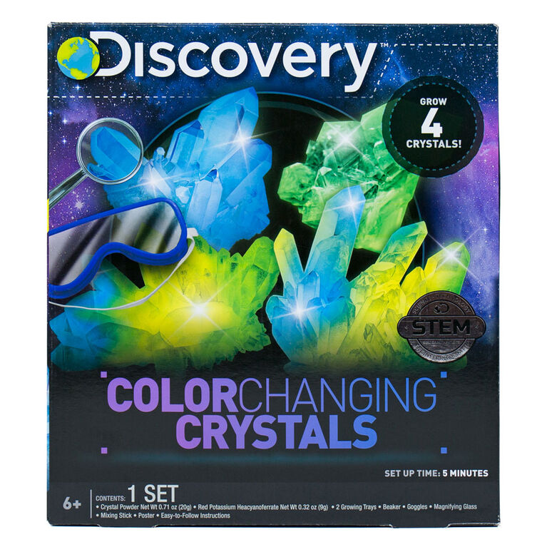 DISCOVERY  Color Changing Crystals